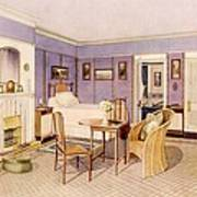 Design For The Interior Of A Bedroom Poster