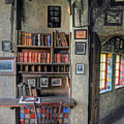 Desk At The Castle Poster