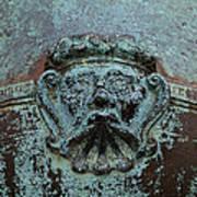 Detail Of A Bronze Mortar Poster