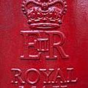 Detail Of Old Royak Mail Post Box Poster