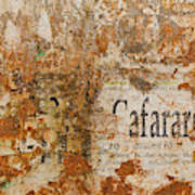 Detail Of Old Stone Wall In Sorrento Poster