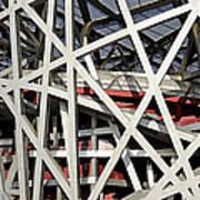 Detail Of The Beijing National Stadium Poster by Brendan Reals