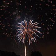 Detroit Area Fireworks -5 Poster