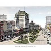 Detroit - Cadillac Square - 1905 Poster
