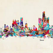 Detroit Michigan Skyline Square Poster