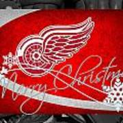 Detroit Red Wings Christmas Poster