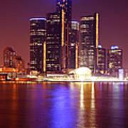 Detroit Skyline 5 Poster