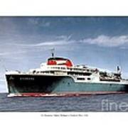 Detroit - The Ss Aquarama - Detroit To Cleveland - 1955 Poster