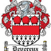 Devereux Coat Of Arms Wexford Ireland Poster