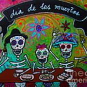Dia De Los Muertos Familia Poster