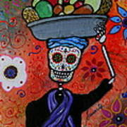 Dia De Los Muertos Fruit Vendor Poster