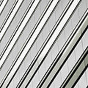 Diagonal Lines Of A Chicago Building Poster