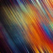 Diagonal Rainbow Poster by John Magnet Bell