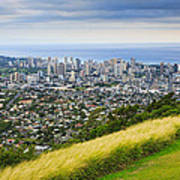 Diamond Head And The City Of Honolulu Poster