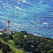 Diamond Head Lighthouse - Hawaii Poster
