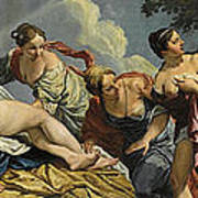 Diana And The Nymphs Surprised By Actaeon Poster