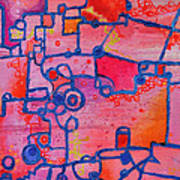Dichotomy  Original Abstract Oil Painting By Regina Valluzzi Poster