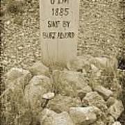 Died 1885 Tomstone Arizona Poster