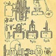 Diesel Internal Combustion Engine Patent Art 1898 Poster