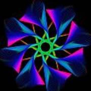 digital flower 08C08n Poster