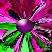 Digital Flower Poster