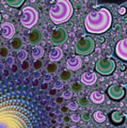 Digital Fractal Artwork Beautiful Colors Poster
