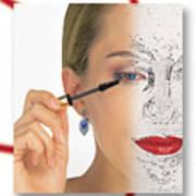 Abstract Make Up Poster