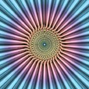 Digital Mandala Flower Poster