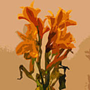 Digital Painting Lily Like Poster