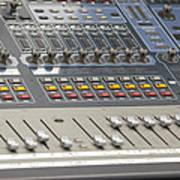 Digital Sound Mixing Console Closeup Poster