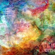 Digital Watercolor Abstract Poster