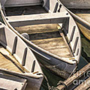 Dinghies Dockside Faded Poster