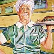 Dinner Betty Poster by Linda Vaughon