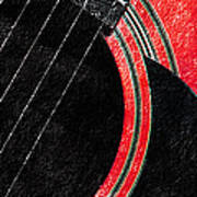 Diptych Wall Art - Macro - Red Section 2 Of 2 - Giants Colors Music - Abstract Poster