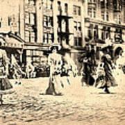 Directoire Gown - Philadelphia Mummers 1909 Poster