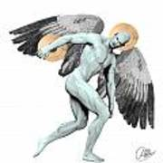 Discus Thrower Angel Poster