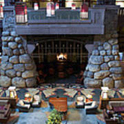 Disneyland Grand Californian Hotel Fireplace 01 Poster