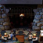Disneyland Grand Californian Hotel Fireplace 02 Poster