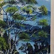 Distant Mountains Lake Poster