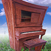 Distorted Upright Piano Poster