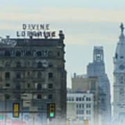 Divine Lorraine And City Hall - Philadelphia Poster