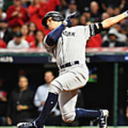 Divisional Round - New York Yankees v Cleveland Indians - Game Five Poster