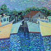 Divisionistic Shrimp Boats Poster