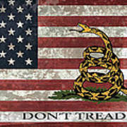 Do Not Tread On Us Flag Poster