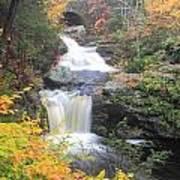 Doanes Falls Fall Foliage Poster