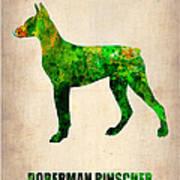 Doberman Pinscher Poster Poster by Naxart Studio