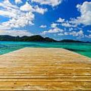 Dock And Beautiful Water Poster