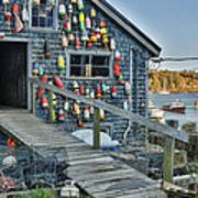 Dock House In Maine Poster by Jon Glaser