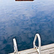 Dock On Calm Lake In Cottage Country Poster by Elena Elisseeva