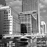 Docklands London Mono Poster